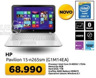 Laptop Pavilion 15-n265sm G1M14EA
