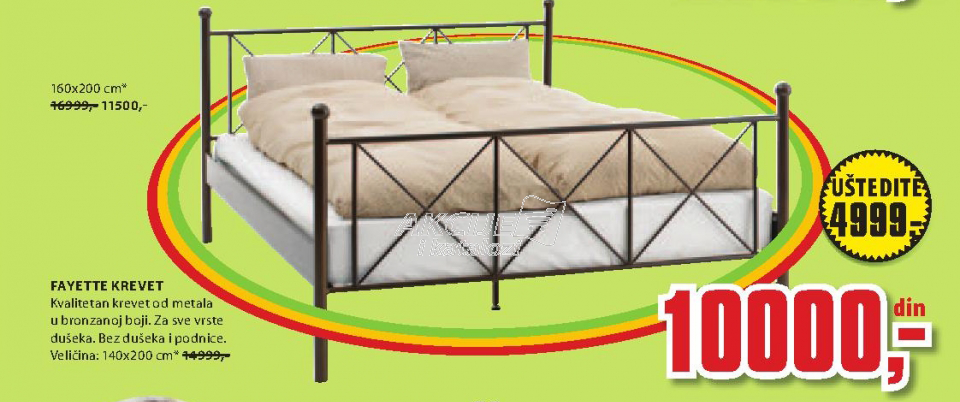 Krevet Fayette, 140x200 cm