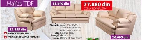 Fotelja Malfas TDF