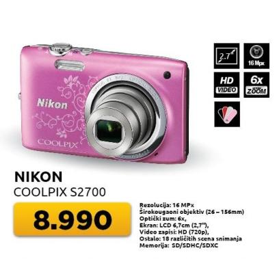 Digitalni fotoaparat Coolpx S2700