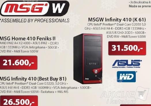 Desktop računar MSG Infinity 410