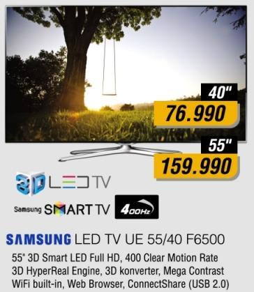 "Televizor LED 55"" Ue55f6500"