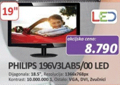 Monitor 196V3LAB5/00 LED