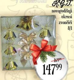 Novogodišnji ukras zvončići