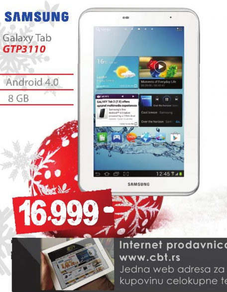 Tablet Galaxy Tab GT-P3110ZWASMO