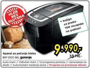 Aparat za pečenje hleba Bm 1200 Bk