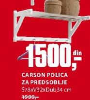 CARSON POLICA ZA PREDSOBLJE