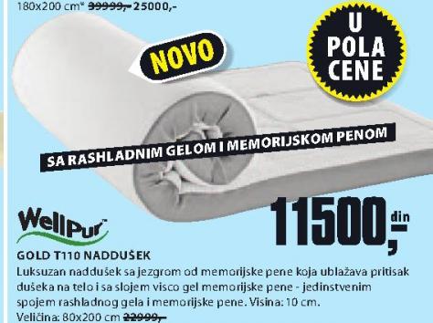 Naddušek, Gold T110, 90x190/200cm