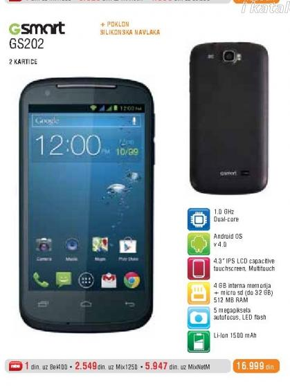 Mobilni Telefoni GSMART GS 202