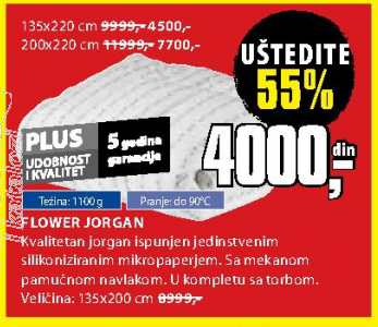 Jorgan Flower 135x220 cm