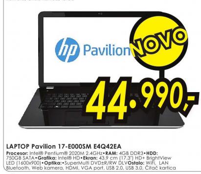 Laptop 17-e000sm, E4Q42EA