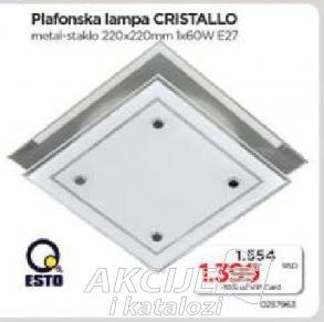 Plafonska lampa Cristallo