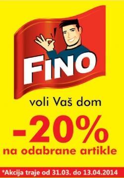 -20% na odabrane artikle Fino