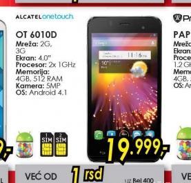 Mobilni telefoni OT-6010 STAR