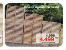 Drvena ograda za baštu