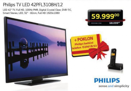 Televizor Philips 42PFL3108H/12 +Poklon Philips bežični telefon D20018/53
