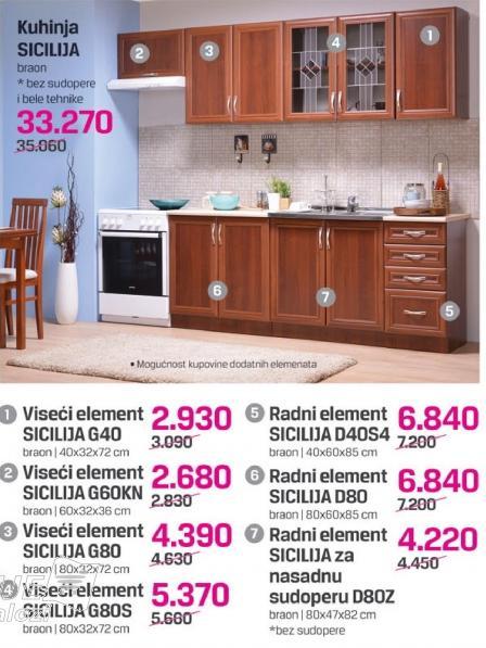 Radni element Sicilija D80