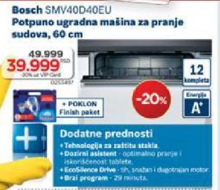 Ugradna Mašina Za Pranje Sudova Smv40D40Eu