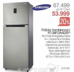 Kombinovani frižider Rt-38fdaadsp