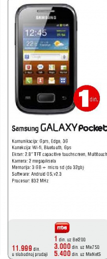 Mobilni Telefon GALAXY Pocket