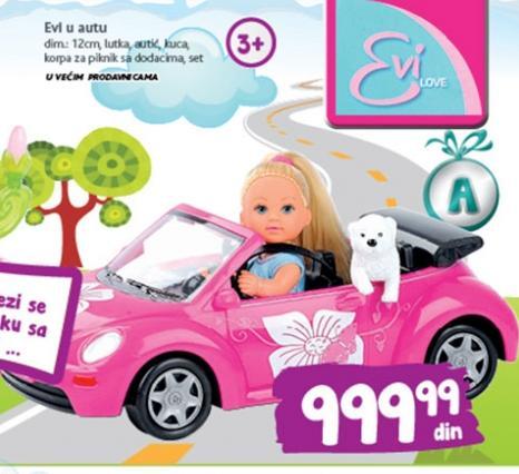Igračka Evi u autu