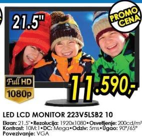 "Monitor LED 21.5"" 223v5lsb2 10"