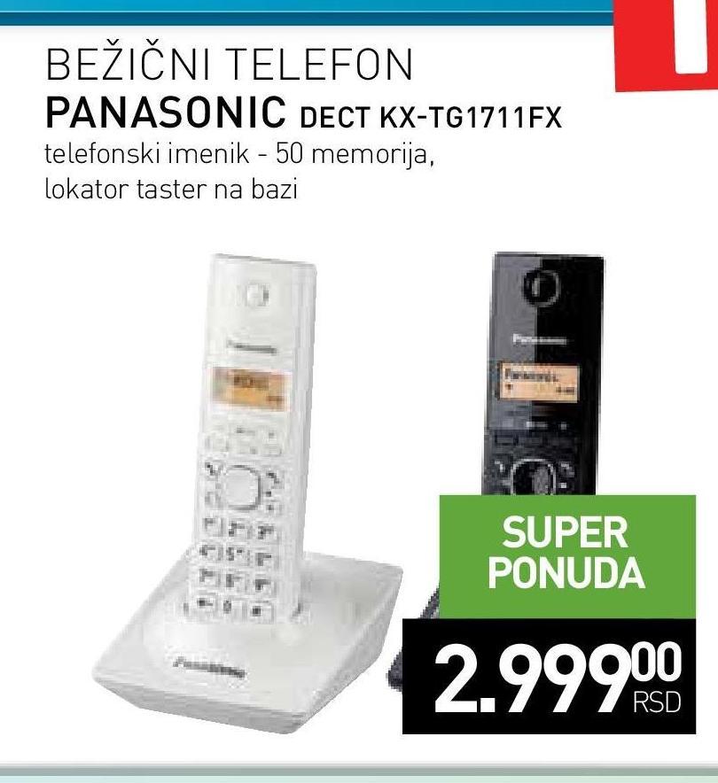 Bežični telefon DEC KX-TG1711FXB