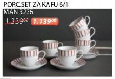 Porcelanski set za kafu 6/1 Man 3236 Sigma
