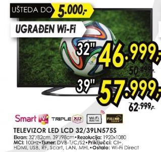 """Televizor LED 39"""" 39ln575s"""