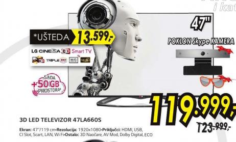 Televizor  3D LED LCD 47LA660S