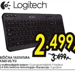 Bežična tastatura K360 US/YU