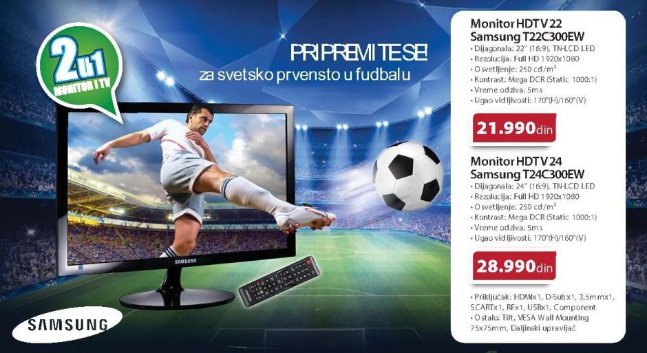 "Monitor LED HDTV 24"" T24c300ew"