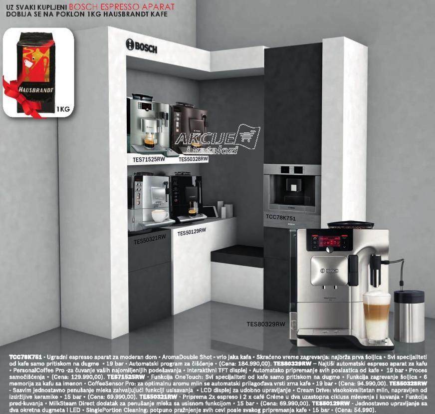 Aparat za espresso Tes50129rw + Poklon 1Kg Hausbrandt kafe