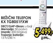Bežični telefon Kx Tg8051fxw