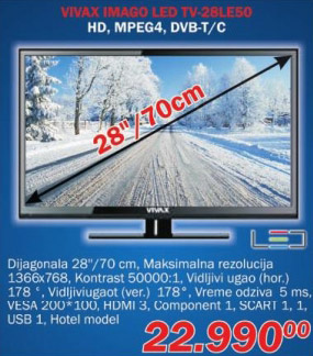 LED televizor Imago 28le50