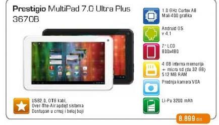 Tablet Multipad 7.0 Ultra Plus 3670B