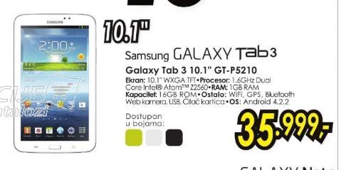 Tablet Galaxy Tab 3 P5210