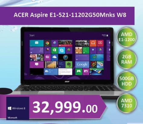 Notebook Aspire E1-521-11202G50M W8