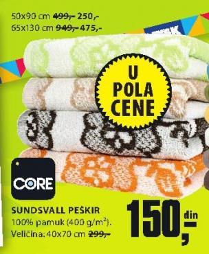 Peškir Sundsvall 50x90