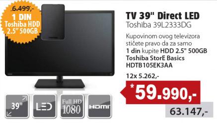 LED Televizor 39L2333DG