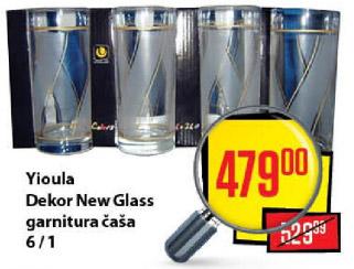 Yioula Dekor New Glass garnitura čaša 6/1