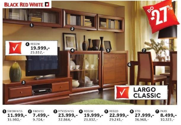 Stolica Pkrs Largo Classic Black Red White