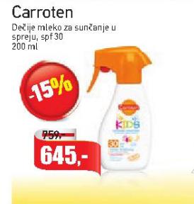 Dečije mleko za sunčanje u spreju SPF 30