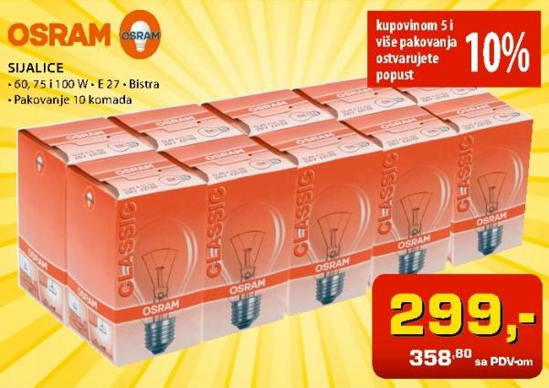 Sijalica E27 bistra Osram