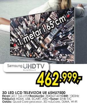 """Televizor LED 65"""" 3D Ue65hu7500"""