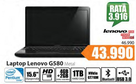 Laptop G580 Metal