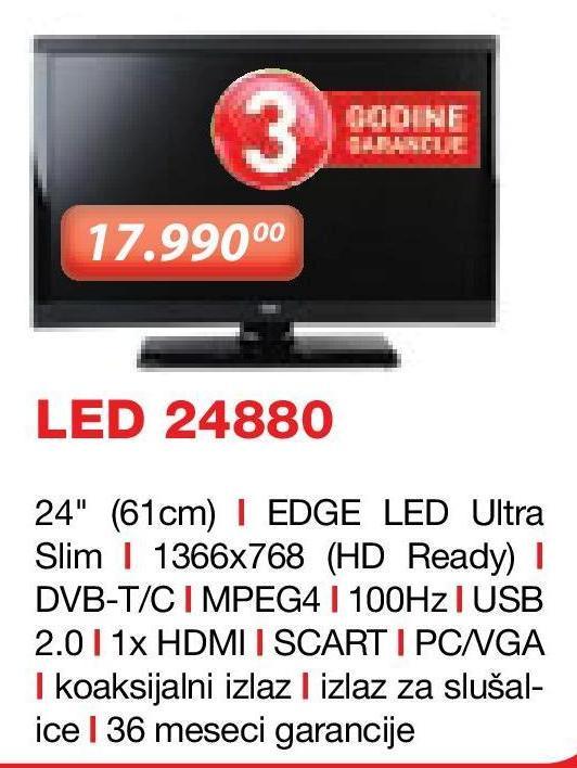 "Televizor LED 24"" 24880"