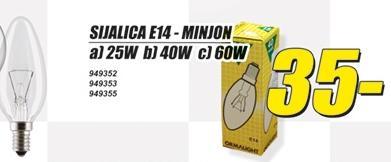 Sijalica E-14 Minjon