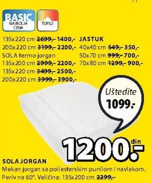 Jorgan Sola 135x220cm