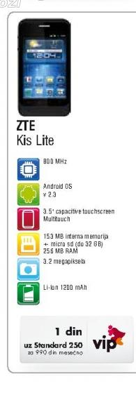 Mobilni telefon Kis Lite